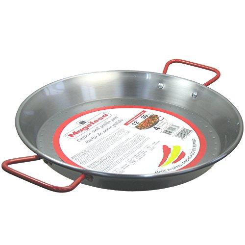 """MageFesa Carbon Steel Paella Pan 12""""- 4 Servings"""