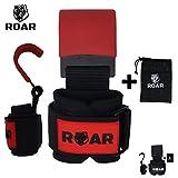 Roar® Stahl Haken zum Gewichtheben Handgelenkbandage Krafttraining Zughilfe Fitness Klimmzughaken...