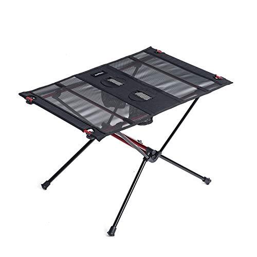 KOLOSM Mesas Portátiles Plegables Mesa de Picnic Plegable Plegable de la Mesa Plegable Plegable de la Mesa Plegable Mesa Plegable (Color : Black)