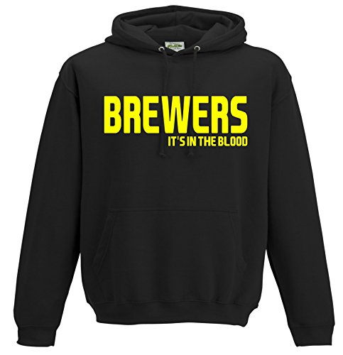 Brewers It's in the Blood Burton Albion Football Gift - Hoodie top jumper FC Present JHD34 (Adult XL)