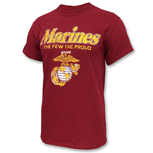 Armed Forces Gear Marines The Few The Proud Faded T-Shirt (Red, XX-Large)
