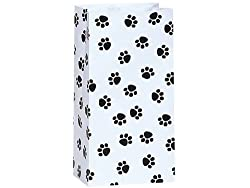 Paw Print Black & White - All-occasion Paper Favor Gift Bags