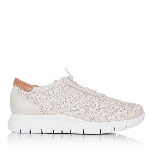 MARIA JAEN 128 Zapato Deportivo Piel Cordones Mujer
