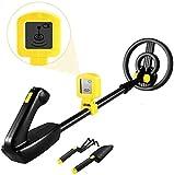 TOPQSC Detector de Metales para niños, Pantalla LCD Detector de Cazador de Oro, Bobina de búsqueda Impermeable de 7.4 Pulgadas, para niños y Adultos