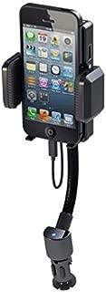 Car Mount FM Transmitter Charger Holder USB Port Dock Cradle Gooseneck Rotating for US Cellular iPhone 6 - US Cellular iPhone 6S - US Cellular iPhone 7 - US Cellular iPhone SE