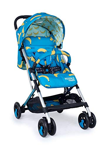 Cosatto Woosh 2 Pushchair – Ultra Lightweight Stroller From Birth to 25kg | One Hand Easy Fold, Compact (Go Bananas)