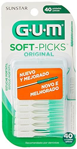 Soft Picks Gum Original, Palitos Interdentais, Com Estojo Portátil, 40 Unid., Gum
