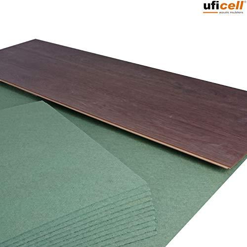 14 m² | Ökotex Parquet Feltplatte 5 mm Starke Trittschalldämmung für Laminat-/ Parkett- und Korkböden, Stärke: 5 mm (14 m² | 2 Pakete mit 7 m²)
