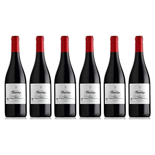 Vino tinto ecológico de Rioja / 12 meses en barrica de roble francés con Denominación de Origen Pack 6 botellas/Vinos Ecológicos Ramón Sáenz elaboración Tradicional