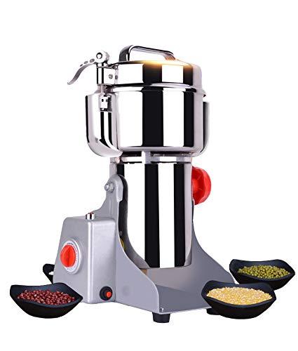300-2500g Sicherheitsverbesserte Elektrische Getreidemühle mit Schnelles Schleifen Pulvermaschine Kommerzielle Kornmühlen Trocken Kräutermühle aus CGOLDENWALL(800g Schaukel)