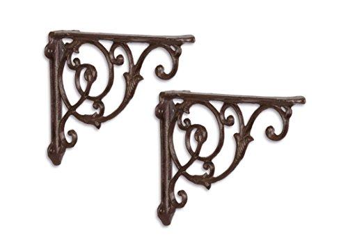 Ángulo de ángulo de pared Soporte de pared estante para estantes Juego Hierro Fundido Andalucia Antiguo Estilo Moritz® SL de 59de BR