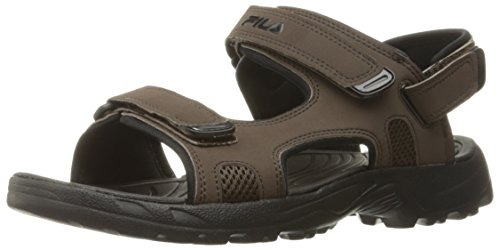 Fila Men's Transition Athletic Sandal, Espresso/Black, 10 M US