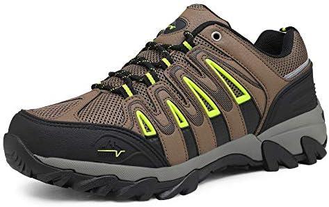 NORTIV 8 Men's Waterproof Hiking Shoes Low Top Lightweight Outdoor Trekking Camping Trail Hiking Shoes