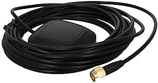 DealMux Antena Activa GPS SMA Macho 5M, 28dB LNA Ganancia 1575.42MHz Señal Activa de GPS Antena más Fuerte