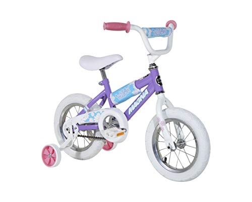 Dynacraft Magna Willow 12' Bike with Removable Training Wheels, Willow Purple