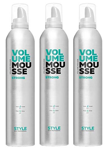Dusy Style Volume Mousse strong 400ml Schaumfestiger Stylingschaum Haarschaum (3 Stück)