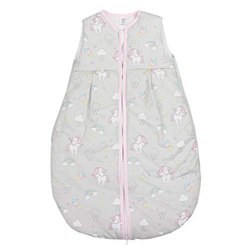 TupTam Baby Schlafsack Wattiert ohne Ärmel ANK001, Farbe: Einhorn Grau, Größe: 104-110