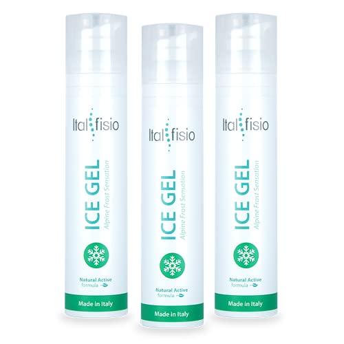 3x ICE GEL- Alpine Frost Sensation- Gel frío calmante fuerte para dolores musculares y articulares y esguinces. Drenante y anticelulítico.3x100ml
