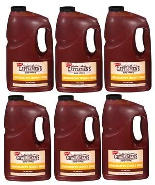 Cattlemen's Mississippi Honey BBQ Sauce, 1 gal (Pack of 6)