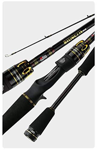 HPPSLT Caña de pescar de carbono Anillo de guía de caña de pescar de spinning rápido Casting Rod Power Tackle-Spinning 802ML 2.44M caña de pescar (tamaño: fundición 662M 1.98M)