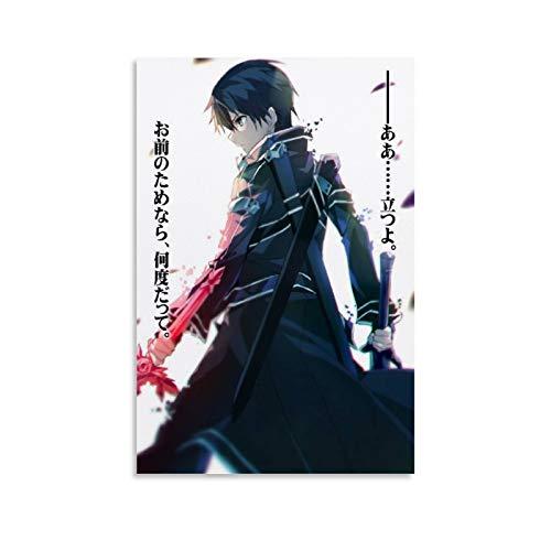 Anime-Poster, Sword Art, Online-Poster, Leinwand-Kunstdruck, modernes Familienschlafzimmer, 20 x 30 cm