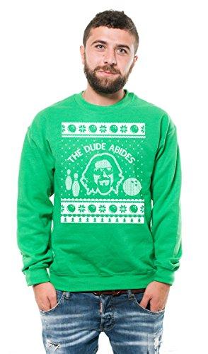 Silk Road Tees Felpa in Pile Il drugo Grande Lebowski Felpa Regalo di Natale The Dude Maglione di Natale Migliore Uomo per Lui Medium Rosso