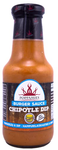 Poppamies Chipotle Dip Burger Sauce - Perfect for Burgers, Tex Mex, Cooking, Dipping - 320g