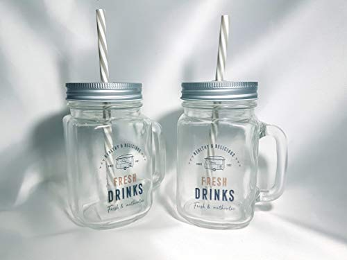 Home Gadgets Pack de 2 Vasos Jason con Tapa y Pajita Food Truck 450 ml