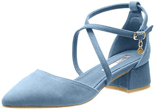 XTI 32094, Zapatos de tacón con Punta Cerrada Mujer, Azul (Jeans Jeans), 38 EU