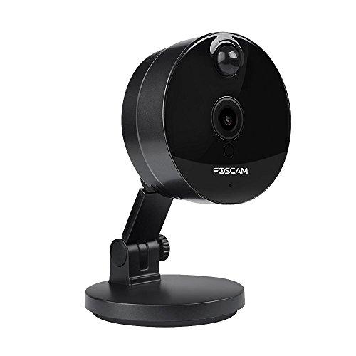 Foscam C1 720P HD WiFi - Cámara IP de Seguridad, Lente 1MP con P2P, Audio Birireccional, Negro