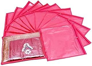 Fashion Bizz Fashion Bizz Pink Non Woven Saree Covers Bags 12 Pink