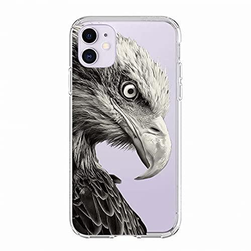 KBFHD Funda de teléfono para iPhone 11 Funda para iPhone XR 11 Pro 7 X XS MAX 8 6 6S Plus 5S SE Funda de Plumas de Silicona Coque Capa