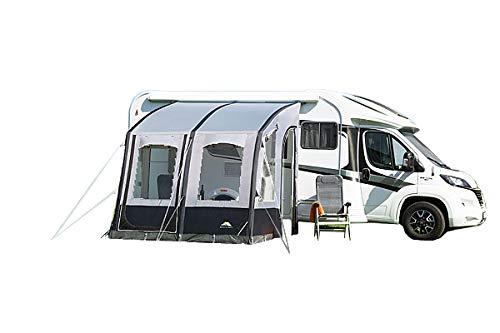 dwt Vorzelt Speed Air/High Gr. 1-4 grau Wohnwagen Buszelt Markise Camping Air-In Reisezelt leicht Mobilzelt aufblasbar Doppelhubpumpe, Größenauswahl:Gr. 4
