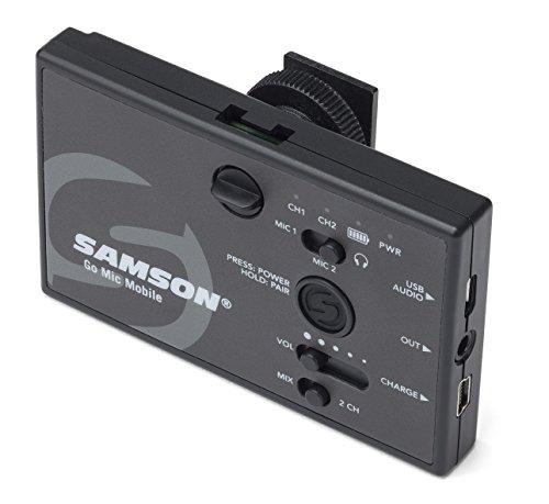 Receptor de Sistema de Microfone sem Fio Samson Go Mic Mobile