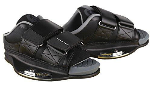 MESLE WAKETEC Wake- & Kiteboard Bindung WaKite Shoes, Boots für Wakeboard- und Kiteboards, schwarz, Größen:L