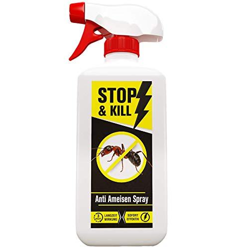 STOP & KILL Anti Ameisen Spray 500 ml | Ameisengift | Wirksame Alternative zu Ameisenköder |Ameisenmittel mit Sofort- & Langzeitwirkung | Ameisen Geruchlos bekämpfen