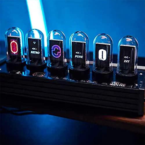 JDKC- Reloj de Tubo Nixie LED RGB, Reloj Digital para Niños, Calendario Electrónico Retro Creativo, Regalo de Decoración de Escritorio, Mejor Regalo de Novio