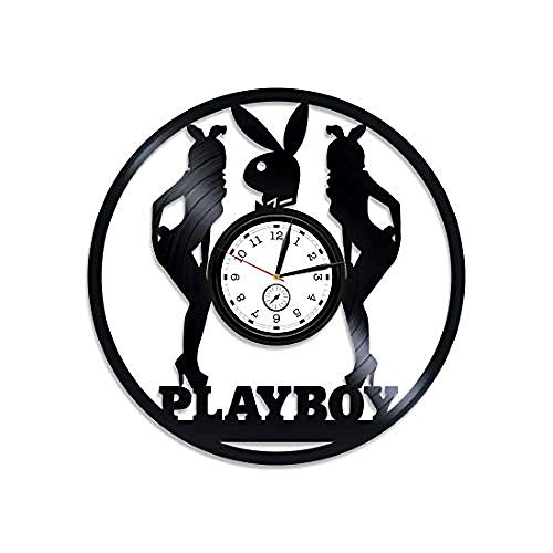 Aiyoubu Play Boy Vinyl Clock Play Boy Vinyl Record Wall Clock Play Boy Wall Clock Vintage Clock Play Boy Wall Art Play Boy Clock Hugh Man Vinyl Wall Clock