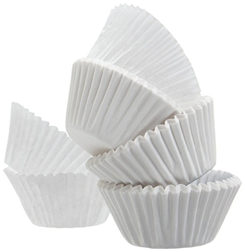 "A World Of Deals AWOD5941 Mini Muffin Baking Paper Cups Cupcake Liners, White, 500 Count, 1-1/4'' X 27/33""-SMALL-3"""