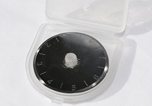 10 pack 28mm Rotary Blades for OLFA / Fiskars / TRUE CUT brand cutters - excellent quality, with plastic storage container
