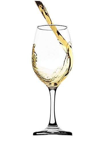 Circleware Twilight White-Red Wine Glasses, 13 ounce, Set of 4