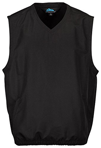 Tri Mountain Big and Tall Windproof Water-Resistant Vest,Black 3XL