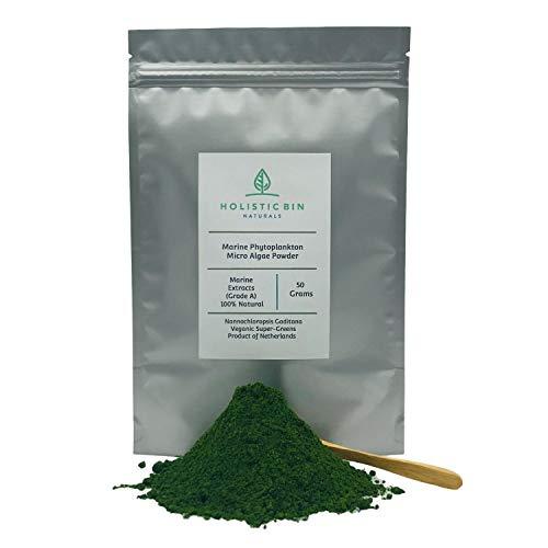 Marine Phytoplankton Powder by Holistic Bin - Broad Spectrum Micro Algae Superfood - Product of Netherlands (50 Gram)