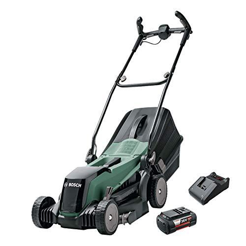Bosch Cortacésped con Batería EasyRotak 36-550, 36 Volt, 1 Batería 4,0 Ah, Ancho de corte: 37 cm, Céspedes de hasta 550 m², en Caja