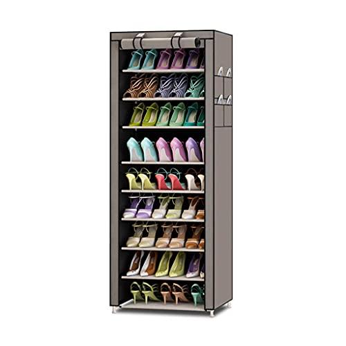 PIVFEDQX Zapatero Grande con Cubierta para Puerta, Pasillo, balcón, Entrada, Caja de Zapatos Plegable, Organizador, diseño Ajustable Que Ahorra Espacio, fácil de Montar