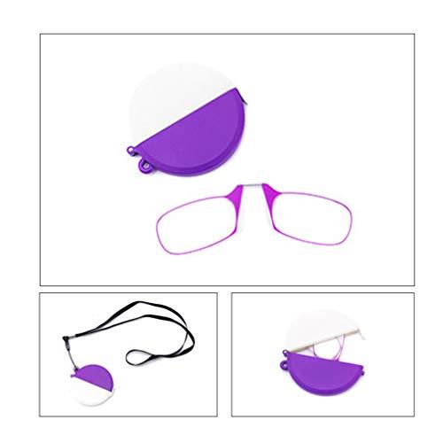 Outech Presbicia Vista Montura Portátiles, Compacto Plegable y Cordón, Gafas de Lectura...
