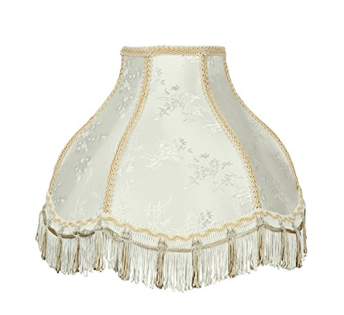 Aspen Creative 30331 Transitional Scallop Bell Shape Spider Construction Ivory, 13