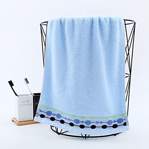 IAMZHL Patrón de música Amarillo Rosa Azul 34cm * 74cm Toalla de baño de algodón para Adultos Toalla de Cara-blue-34cm by 74cm