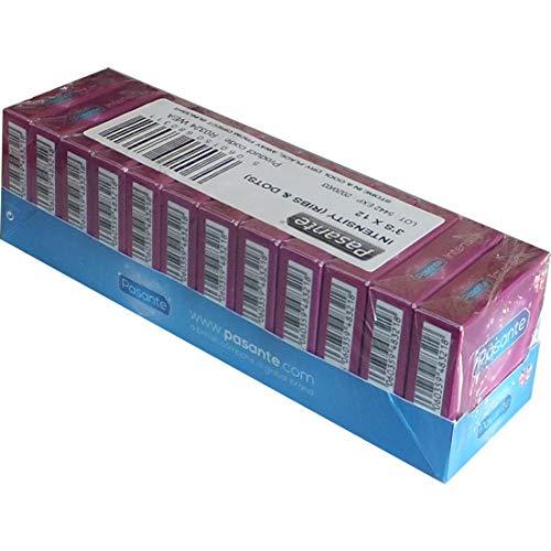 Pasante Kondome mit Rippen und Noppen (36er Packung, Pasante Intensity Ribs&Dots) Condome gerippt und genoppt maximale Stimulation, extra stimulierend