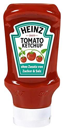Heinz Tomato Ketchup OHNE Zusatz von Zucker und Salz 5x400ml